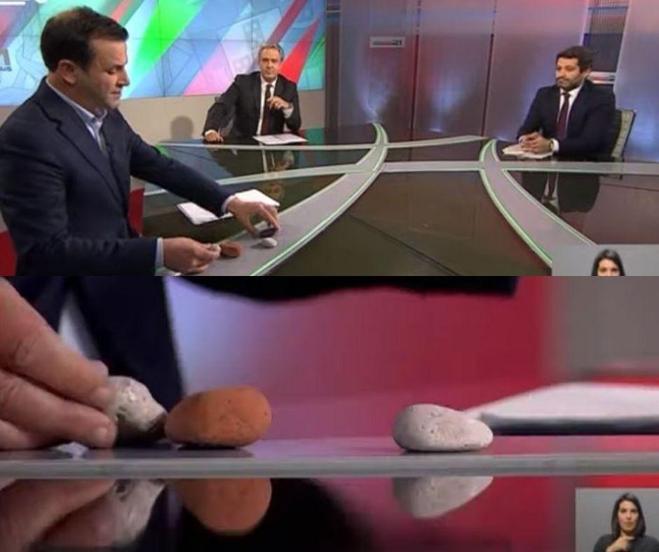 Vídeo: As pedras de Tino de Rãs no debate com André Ventura