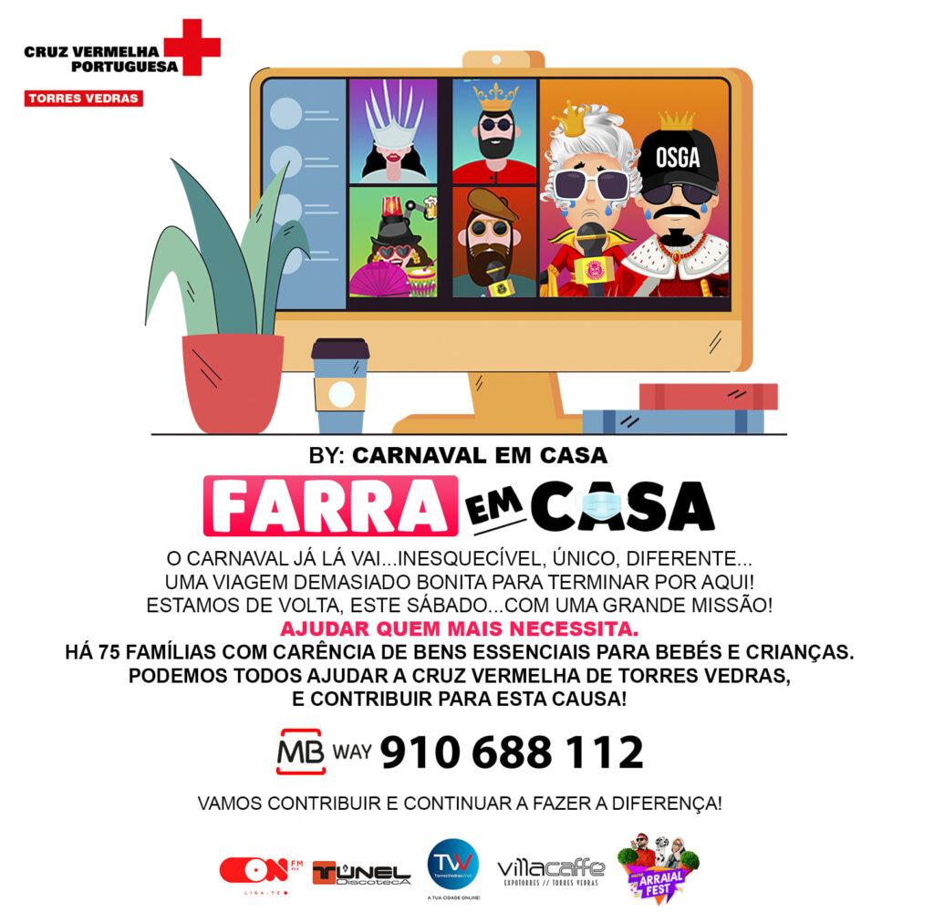 """Junta-te ao evento solidário deste sábado com o """"Carnaval em Casa"""""""